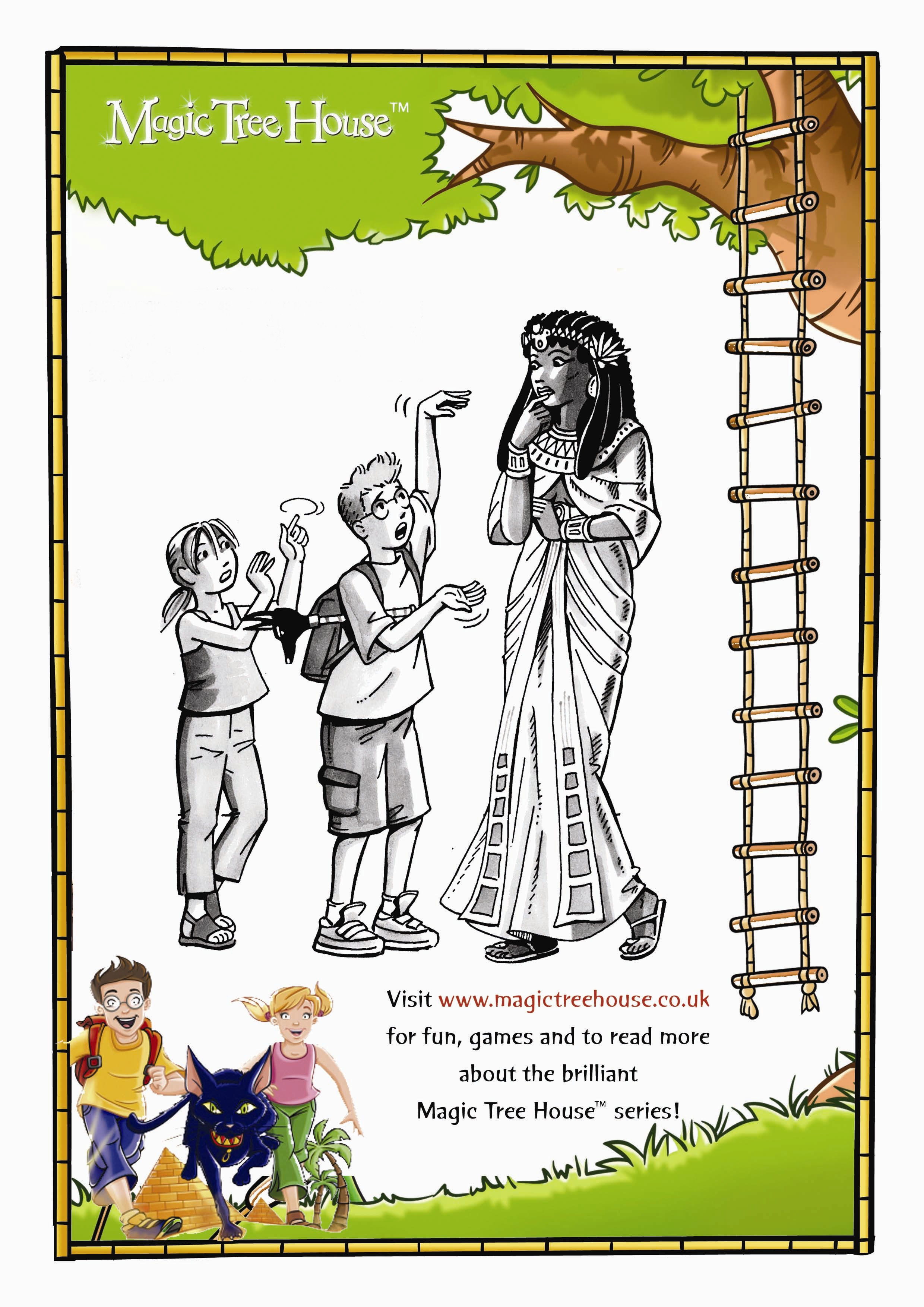 Magic Tree House Colouring Activity - Scholastic Kids' Club