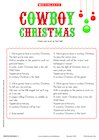 Cowboy Christmas lyrics