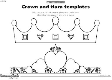 Crown and tiara templates early years teaching resource for Kings crown template for kids