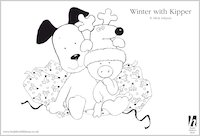 Fun stuff scholastic book club for Kipper the dog coloring pages