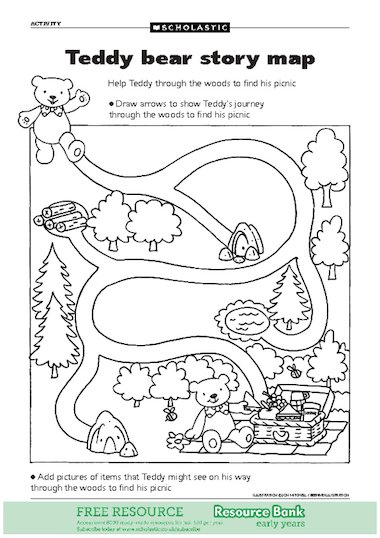 Teddy bear story map u2013 FREE Early Years teaching resource ...