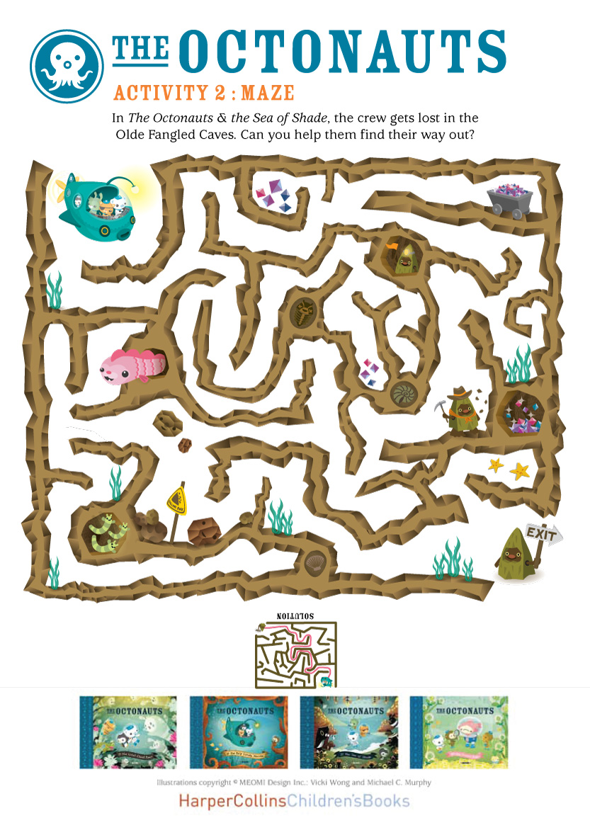 Free Worksheets free printable worksheets uk : Octonauts Maze - Scholastic Kidsu0026#39; Club