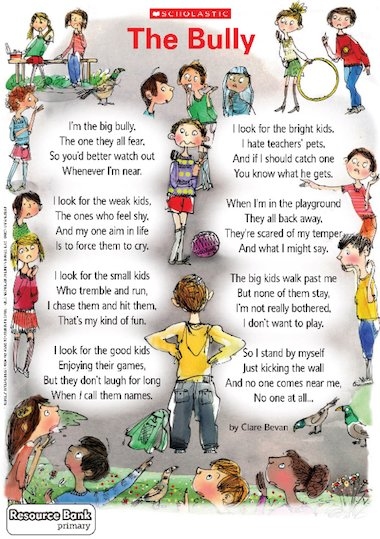 The Bully' poem poster – FREE Primary KS2 teaching resource ...