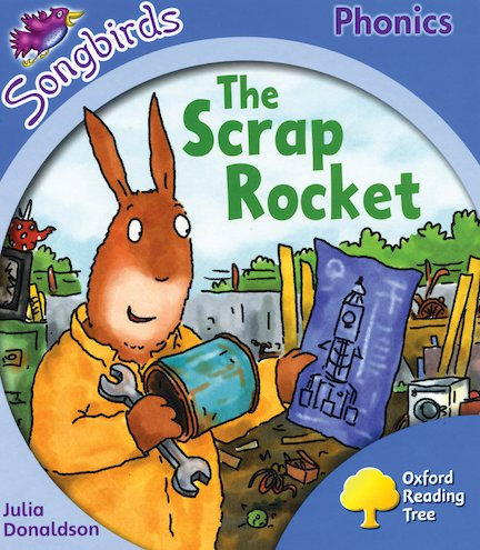 ... rocket ron collects a tin a pot and a tap to build a rocket out of
