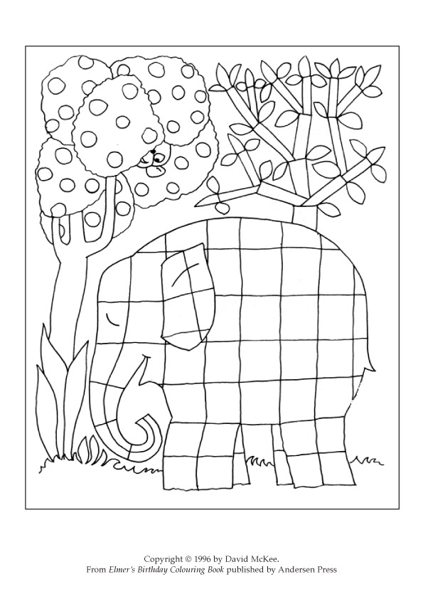 Free Coloring Pages Of Elmer The Elephant Ktm