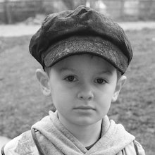 Victorian boy closeup