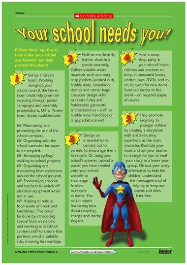 ... school needs you – FREE Primary KS2 teaching resource - Scholastic