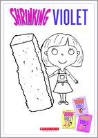 Shrinking Violet Colouring Activity Sheet