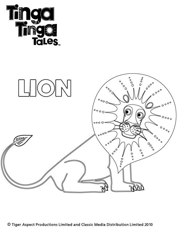 Tinga tinga lion colouring scholastic kids 39 club for Tinga tinga coloring pages
