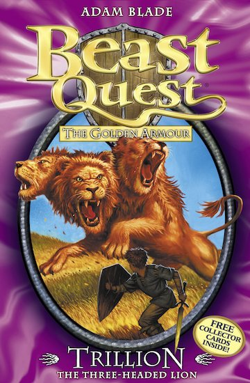 Beast quest series 2 558 trillion the three headed lion tom is in the