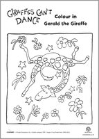 Giraffes Can't Dance colouring
