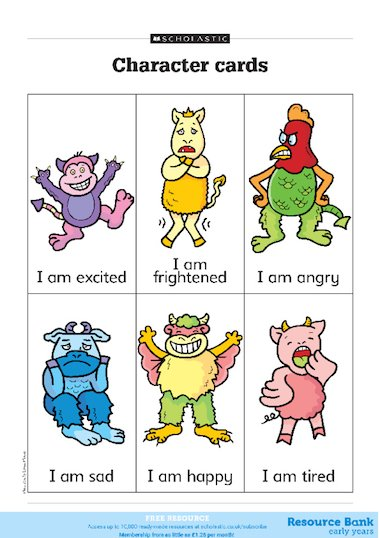 Character Design Sheet Ks1 : Character cards free primary ks teaching resource