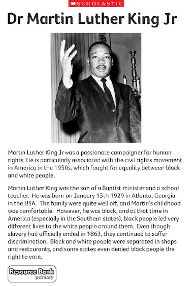 martin luther king autobiography book report Biography (nonfiction) 1,494 words, level s (grade 3) multilevel book also  available in levels m and p martin luther king jr was one of the most important  civil.