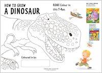 Colour a roaring T-Rex