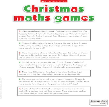 christmas maths games primary ks1 teaching resource scholastic. Black Bedroom Furniture Sets. Home Design Ideas