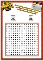 Time Hunters wordsearch