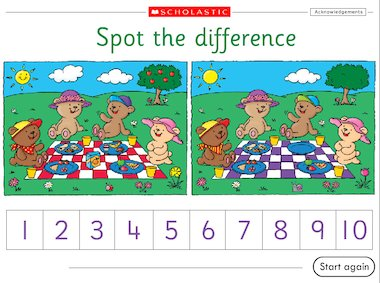 Spot the difference – interactive game – Early Years teaching ...