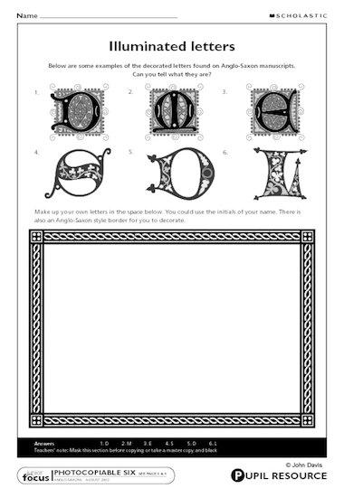 Anglo saxon writing alphabet worksheet