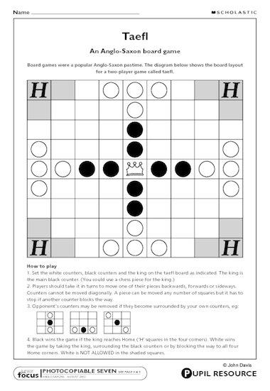 Taefl u2013 Anglo-Saxon board game u2013 Primary KS2 teaching ...