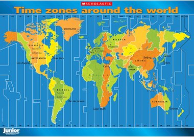 Children can investigate the world's time zones with this striking ...