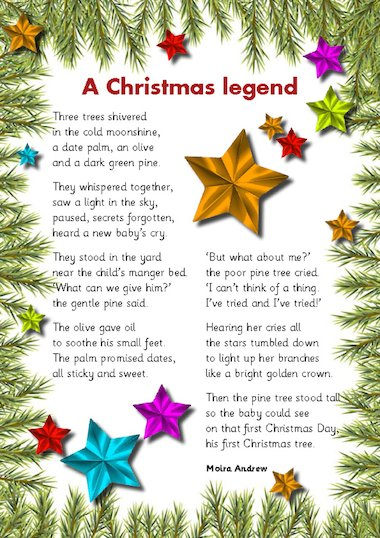 Two poems by moira andrew to share at christmas time a christmas