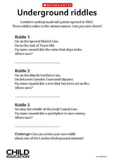 Riddles For Kids Pdf - Riddles For Kids