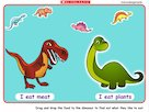 Feed the dinosaurs – interactive