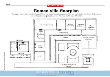 roman villa floor plan free primary ks2 teaching ancient roman villa