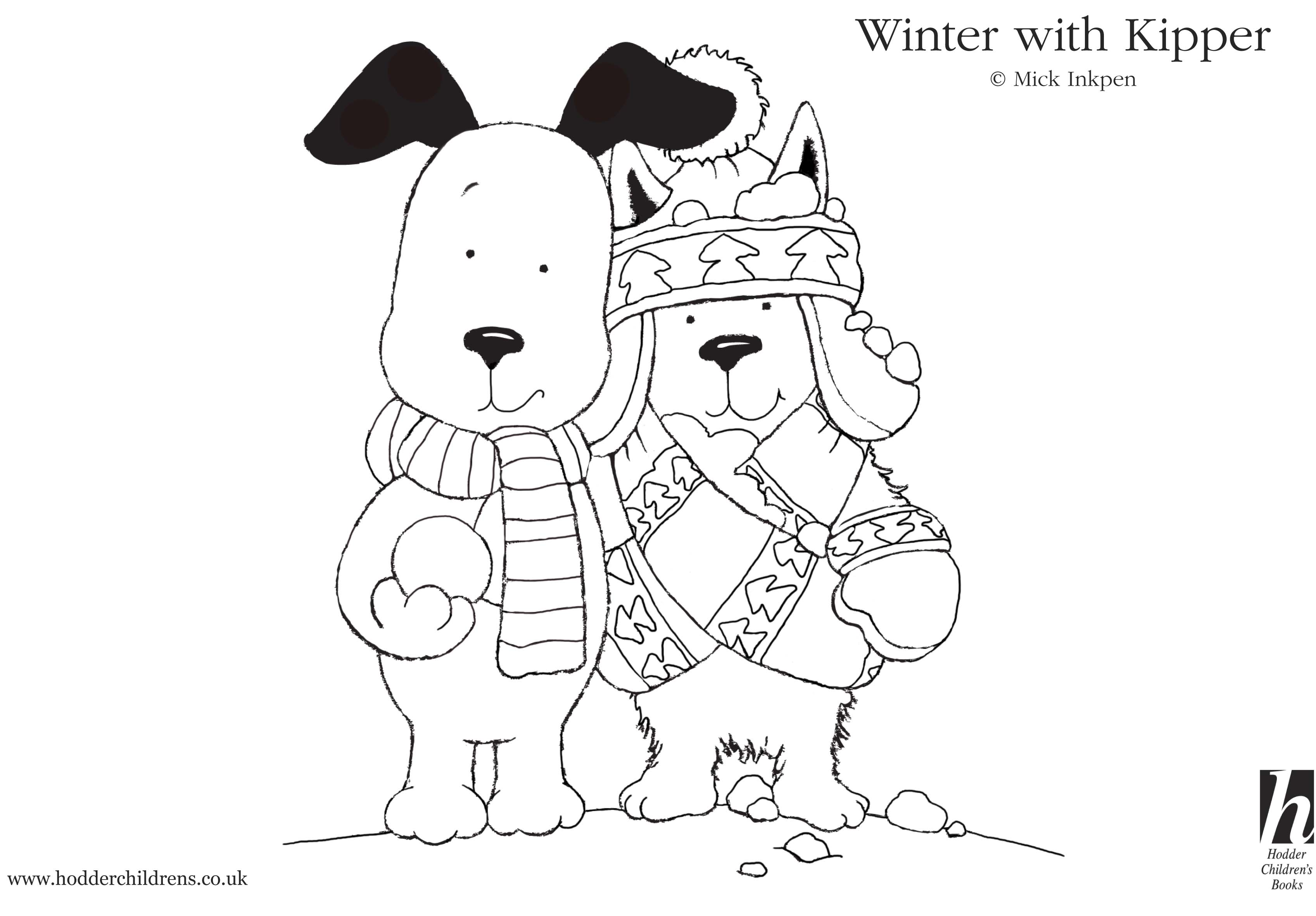 Kipper Snowy Colouring Scholastic Kids Club Kipper The Coloring Pages