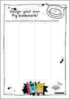 Design your own Pig bookmark - free activity