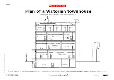 Plan Of A Victorian Townhouse Free Primary Ks2 Teaching