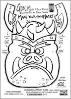 Make your own Goblin mask - Free Downloadable