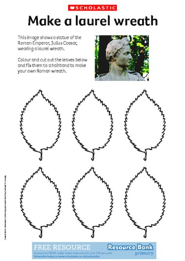 laurel leaf crown template romans make a laurel wreath free primary ks1 ks2