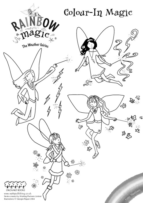 coloring pages rainbow fairies | Rainbow Magic Colouring - Scholastic Kids' Club