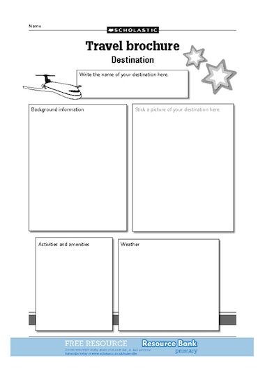 travel brochure template ks2 happy holidays travel brochure destination free primary