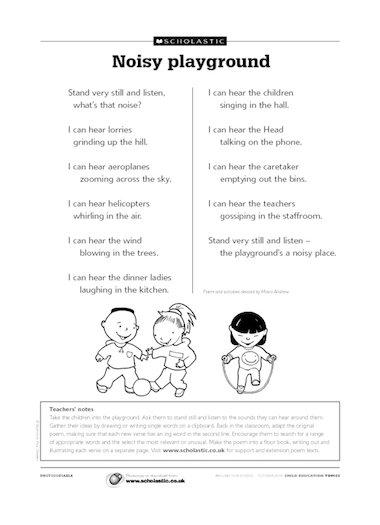 heard it in the playground poem pdf