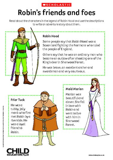 ... – characters – Primary KS1 & KS2 teaching resource - Scholastic