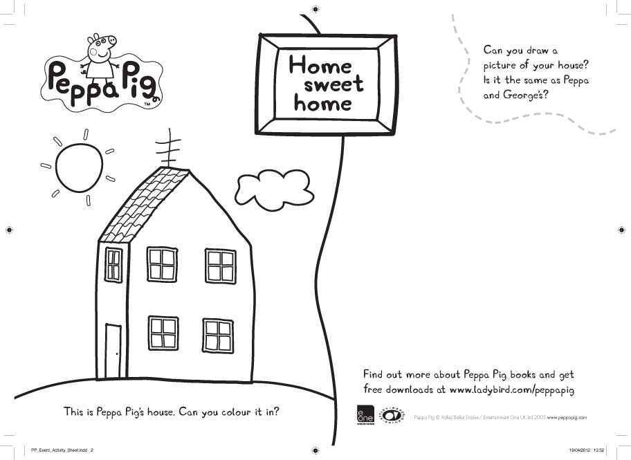 Peppa pig home sweet home colouring scholastic book club