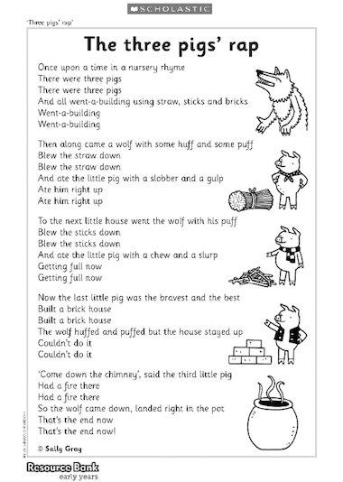 Three pigsu2019 rap u2013 Early Years teaching resource - Scholastic