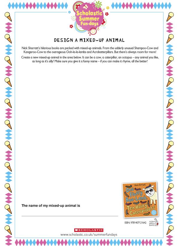 Mixed up Animal Drawings Design a Mixed-up Animal