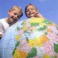 Children with globe