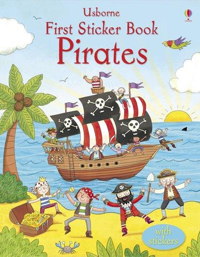 School Book Cover Stickers : Usborne first sticker book pirates scholastic shop