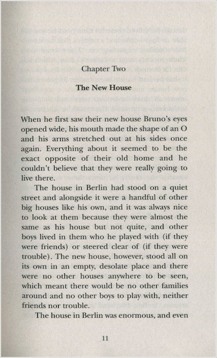 the boy in the striped pajamas chapter summary Sort the chapter headings below into the order you think they go in you do not need to have read the book first just decide which order seems right to you be prepared to explain your decisions chapter headings order you think they go in (number 1 – 20) a the overpaid maid b the new house c something he.