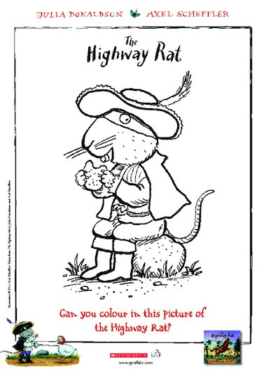 Highway Rat Colouring Sheet Free Early Years Teaching