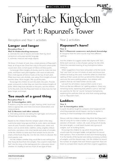 Rapunzel Sheet Activities Related Keywords & Suggestions ...