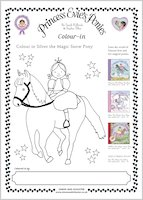 Princess Evie's Ponies Colouring