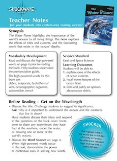 The Water Planet Teacher&#x27;s notes and 3 fact files