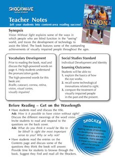 Vision without Sight Teacher&#x27;s notes and 3 fact files