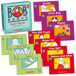 – Grade for  First books 1st sight Club  Books: Scholastic Sight word Bob graders Words  Book