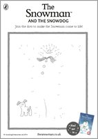 The Snowman and the Snowdog Dot to Dot Activity